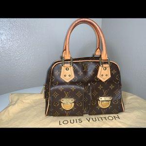 Authentic Louis Vuitton Manhattan pm satchel tote
